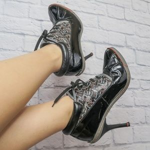 Baby Phat Oxford Lace Up Stiletto Shoe